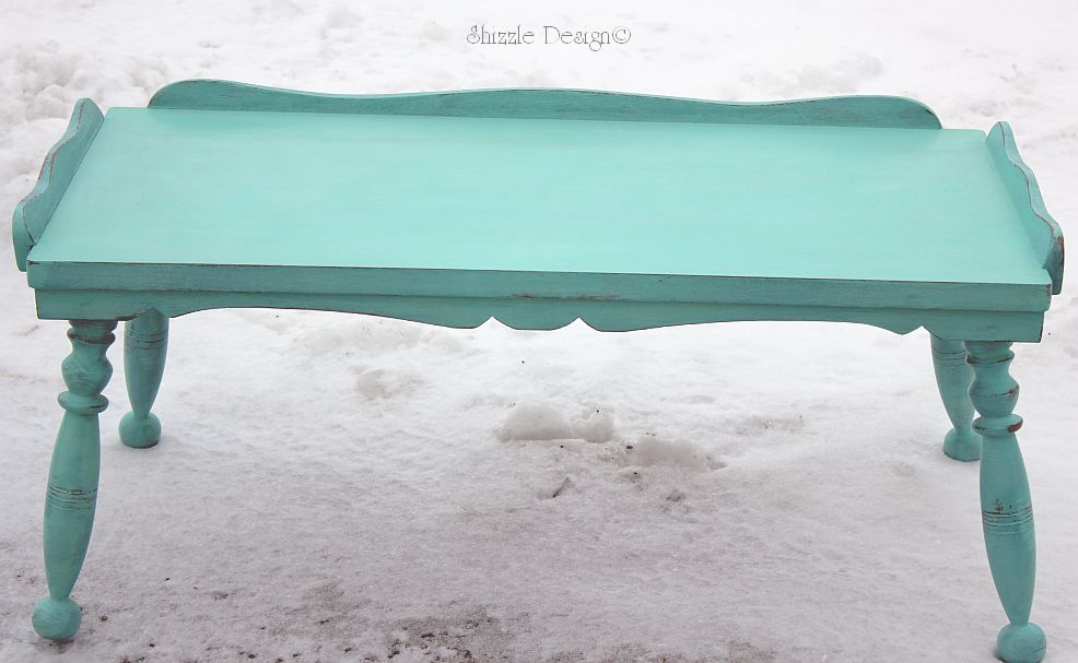 Shizzle Design | Turquoise Coffee Table