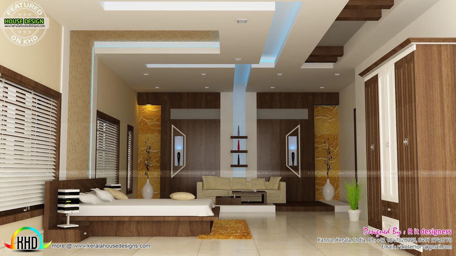 R It Designers (home Design In Kannur) Part - 24: Living Room Master Bedroom Bedroom Interior Bedroom Interior. R It Designers