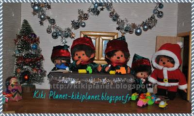 monchhichi, bebichhichi, noël, contes de Noël, Père-Noël, santaclaus, kiki, kiki le vrai, le kiki de tous les kiki, vintage
