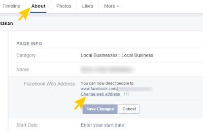 Cara Mudah Mengganti URL / Link Profil Facebook