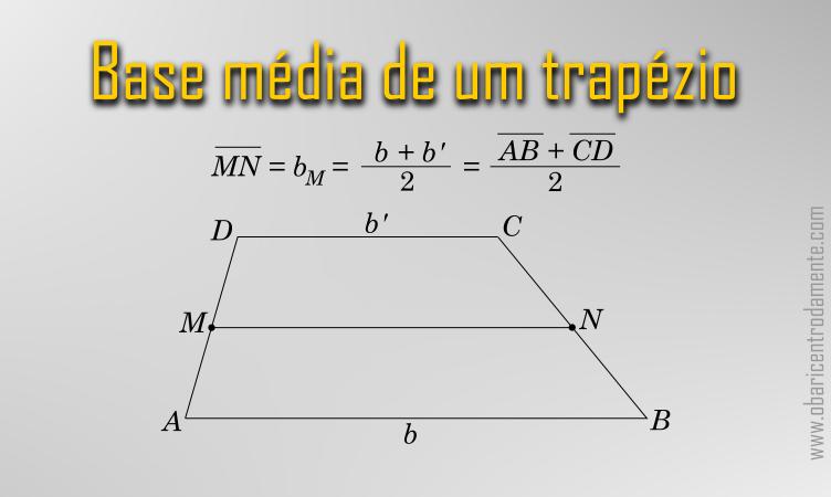 Base média de um trapézio