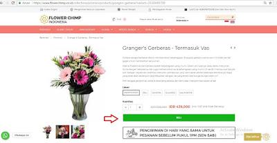 langkah membeli bunga di flower chimp