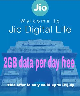 Jio new offer 2GB data per day