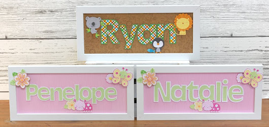 Doodlebug Design Cut Files: Baby Name Frames