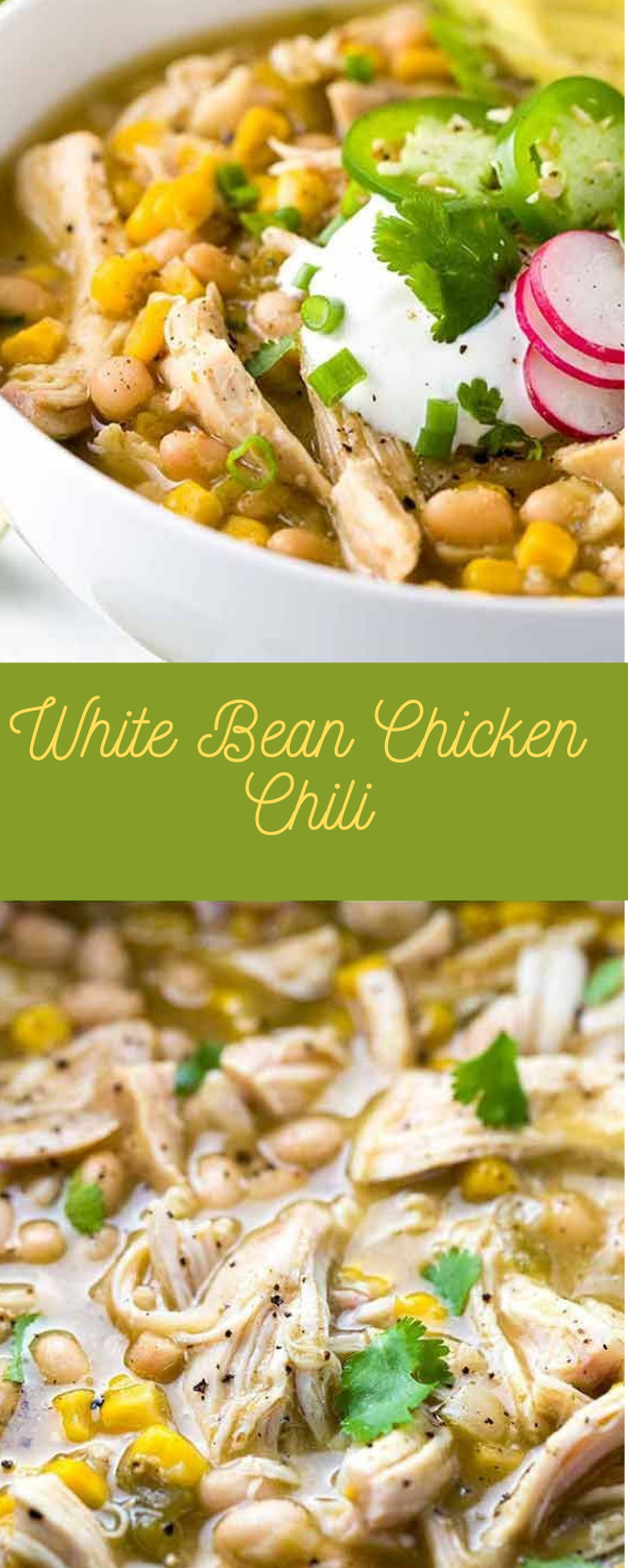White Bean Chicken Chili #dinner #chicken