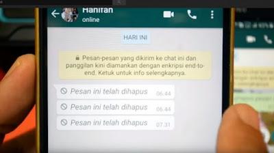 Cara Membaca Pesan Whatsapp yang Sudah Dihapus Pengirimnya