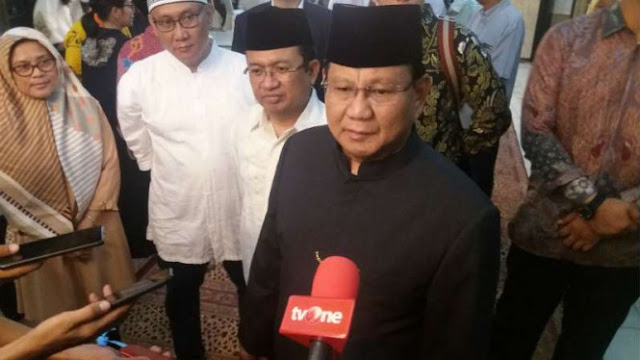 Prabowo Ingatkan Lagi Jasa Soeharto bagi Indonesia
