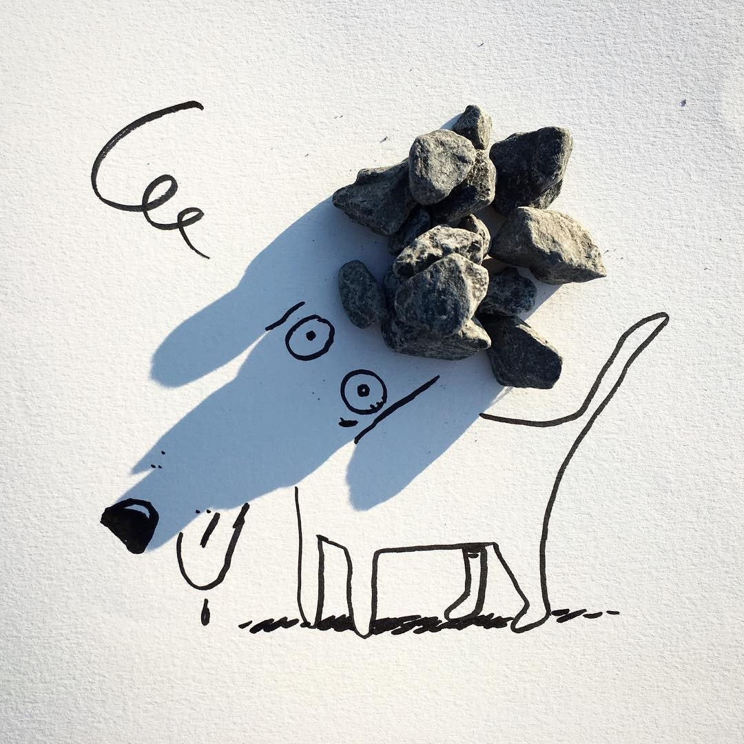 17-Stonedog-Vincent-Bal-Drawing-with-Shadows-of-Everyday-Things-www-designstack-co