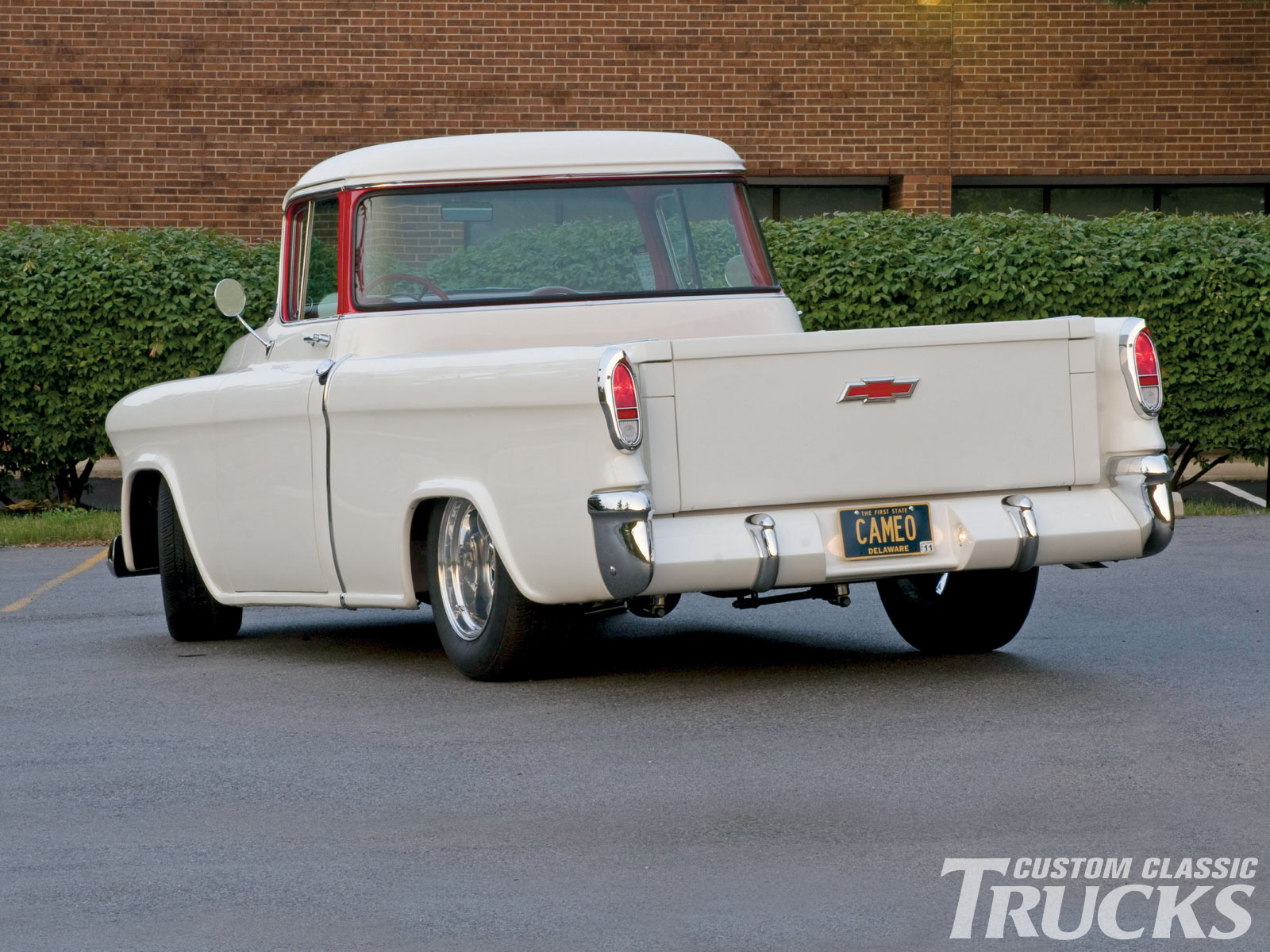 1957 Cars Restored Or Wallpapers 1955 Chevrolet Cameo Pickup Hotrod Pictures Hot Rod Cars