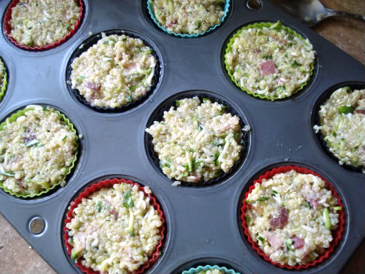 fill muffin cups with quinoa mixture