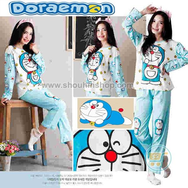 Lovia Shop Setelan Panjang Doraemon Smile Cute Bell