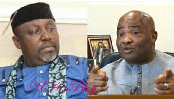 Okorocha Is The Real Mole In APC, Says Uzodinma As He Speaks On Video Showing Him 'Congratulating' Ihedioha