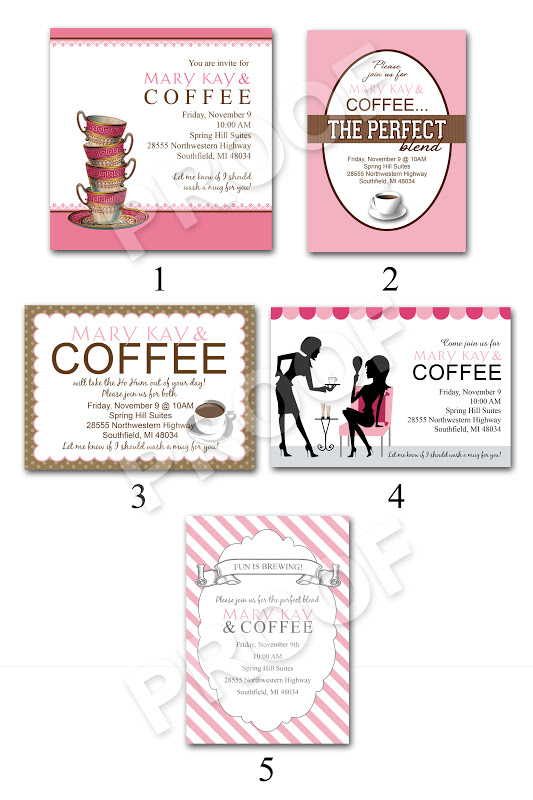 Mary kay debut party scripts party invitations ideas for Mary kay invite templates