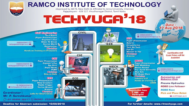TECHYUGA'18 Technical Symposium at Ramco Institute of Technology