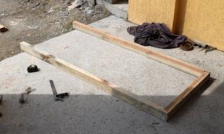 A new door frame from the old door