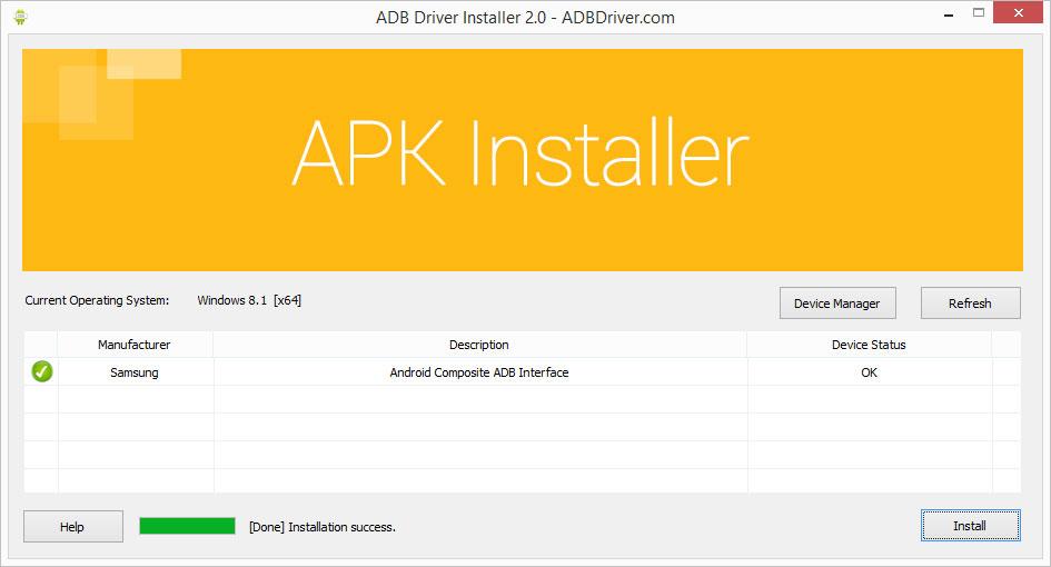 Solution au problème d'installation des pilotes androïd sur PC- ADB Drivers Androïd Adb-driver-installer-finished