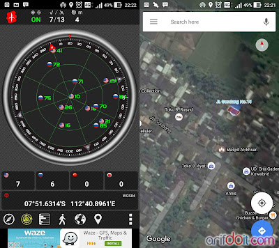 Test GPS Outdoor cuaca mendung & habis hujan