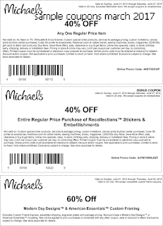 free Michaels coupons for march 2017