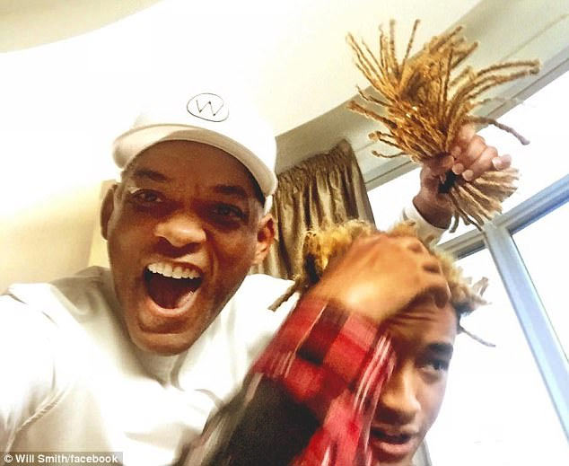 Will Smith cuts off his son, Jaden Smith's dreads (hilarious caption)