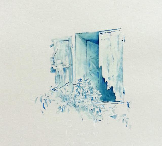 Cours de dessin Ateliers LT37 -  Fenêtre - dessin aquarelle de Patrice Arnould -  Montlouis sur loire      tours       St Avertin      amboise         37270         Chambray les tours    veigné
