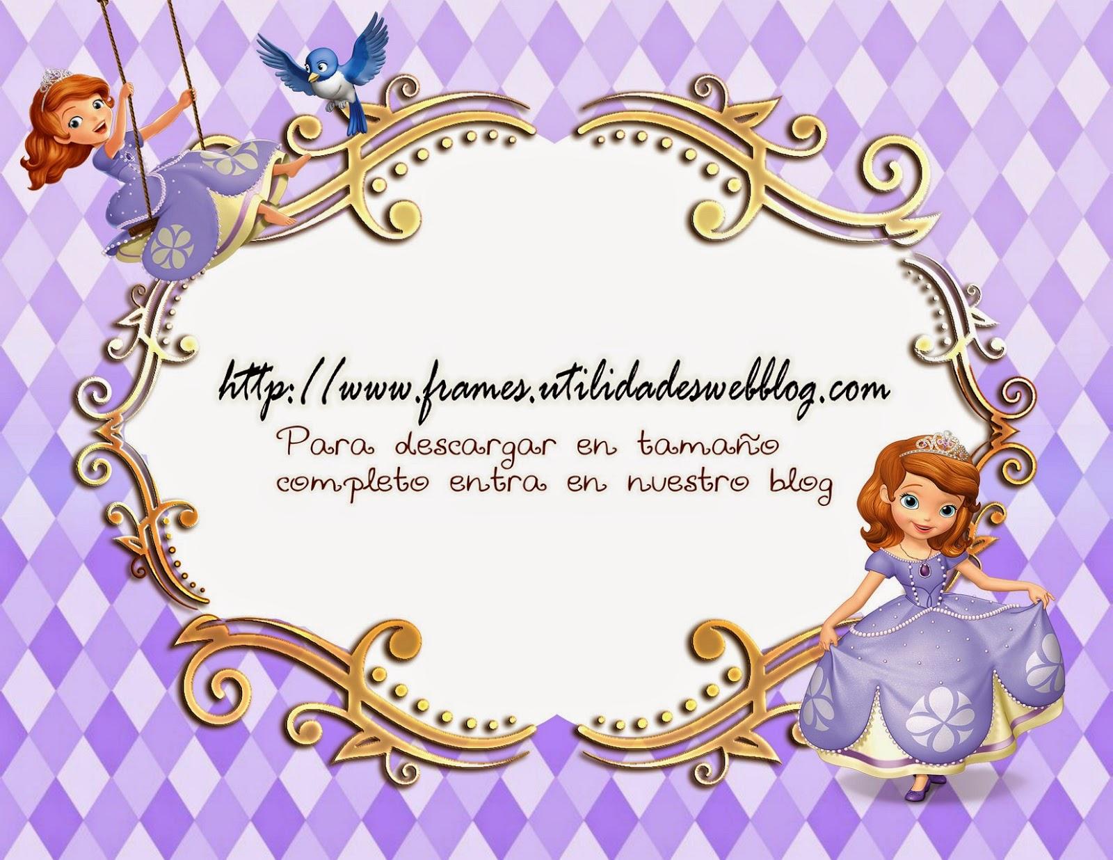 marcos para fotos infantiles de la princesa sofia
