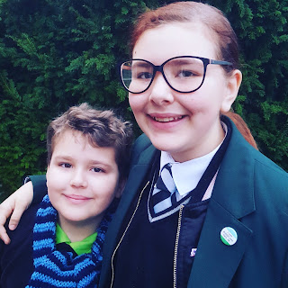 Top Ender and Dan Jon ready for School