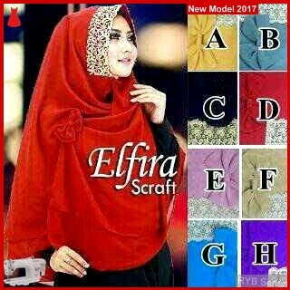 RYB069B Hijab Jilbab Cantik Khimar Murah Elfira BMG Online Shop