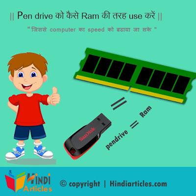 अपने Pen drive को Ram की तरह use कैसे करें !