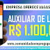 AUXILIAR DE LOJA COM REMUNERAÇÃO DE R$ 1.100,00 PARA ATUAR EMPRESA DO VAREJO