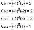 Menentukan Cofaktor Matriks