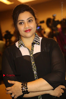 Tamil Actress Meena Latest Stills in Black Dress at TSR TV9 Awards Press Meet  0069.JPG
