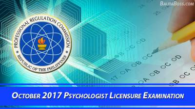 Psychologist October 2017 Board Exam
