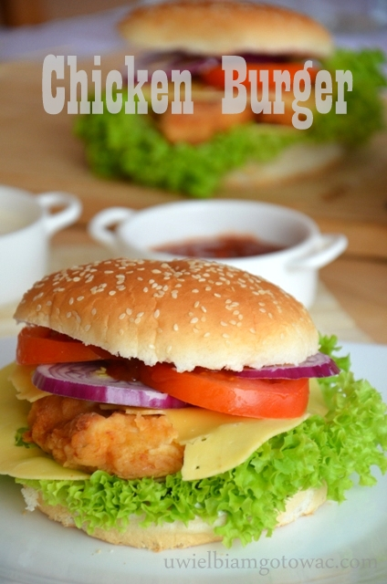 Chicken burger (Burger drobiowy)