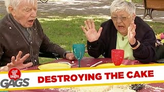 Crazy Granny Ruins Piñata Party Prank!
