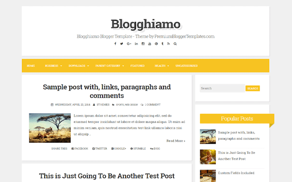 Blogghiamo Free Blogger Template