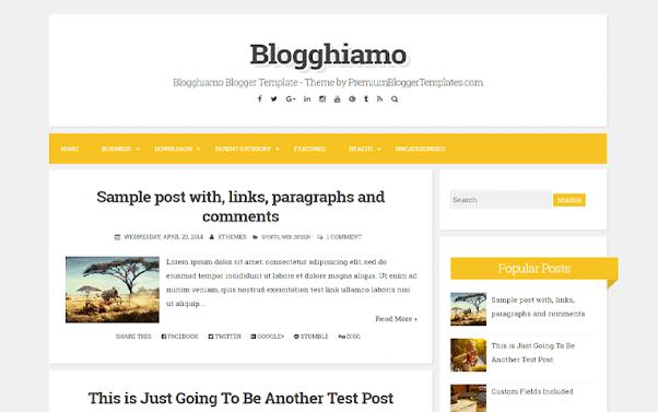 Blogghiamo Free Blogger Template