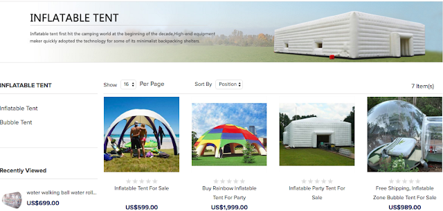 bouncy tent