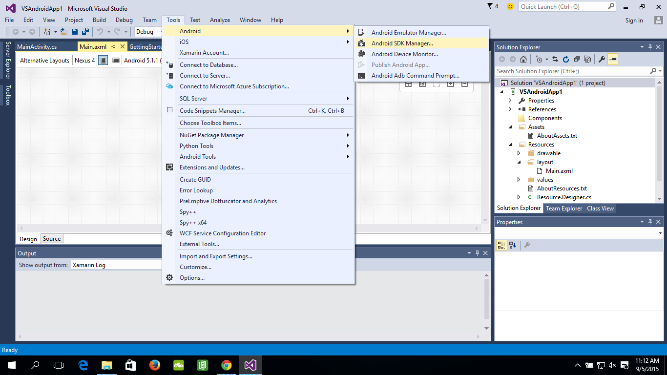 Android-er: Hello World Android App on Visual Studio 2015