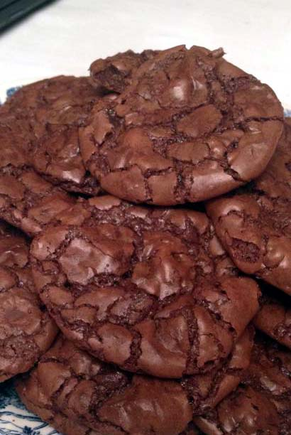 Easy Dark Chocolate Brownie Cookies from Scratch - Food, Fun, and