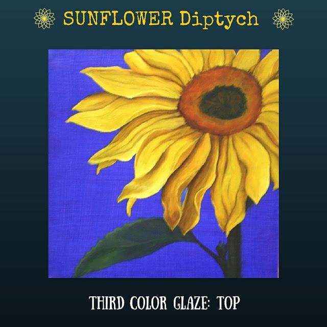 Third color glaze TOP Sunflower