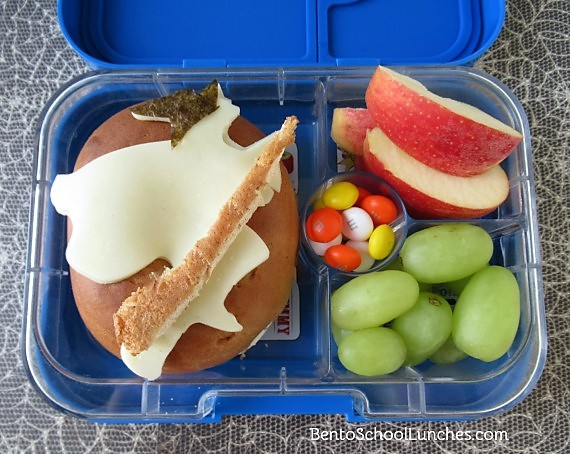 Witch and broomstick Halloween bento lunch in Yumbox