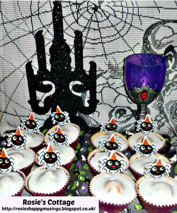 Halloween Spider Fairy Cakes