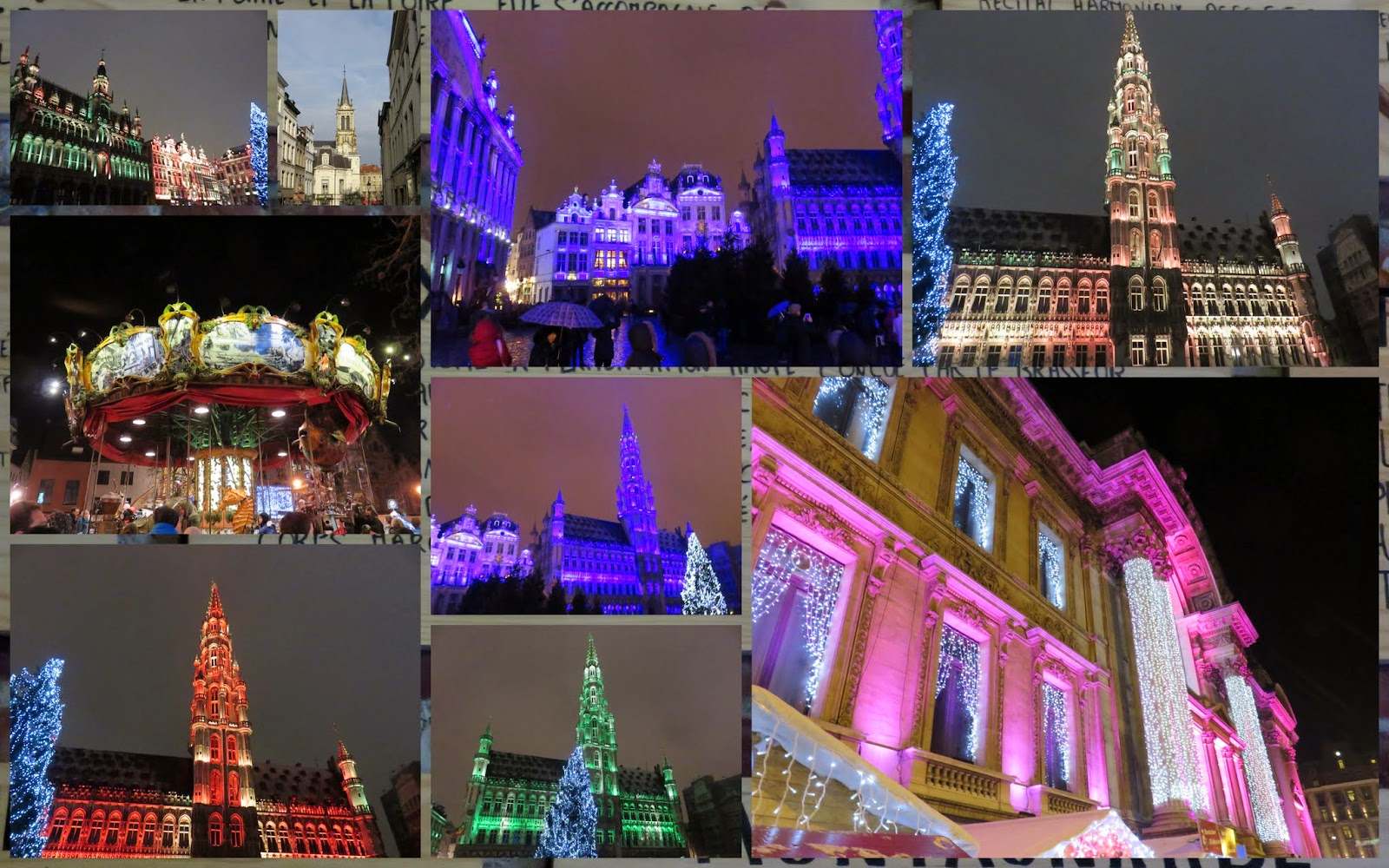 Christmas Light Show on the Grote Markt in Brussels