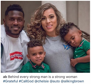 Antonio Brown and Chelsie Kyriss and Kids