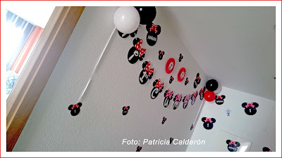 decoración minnie mouse roja