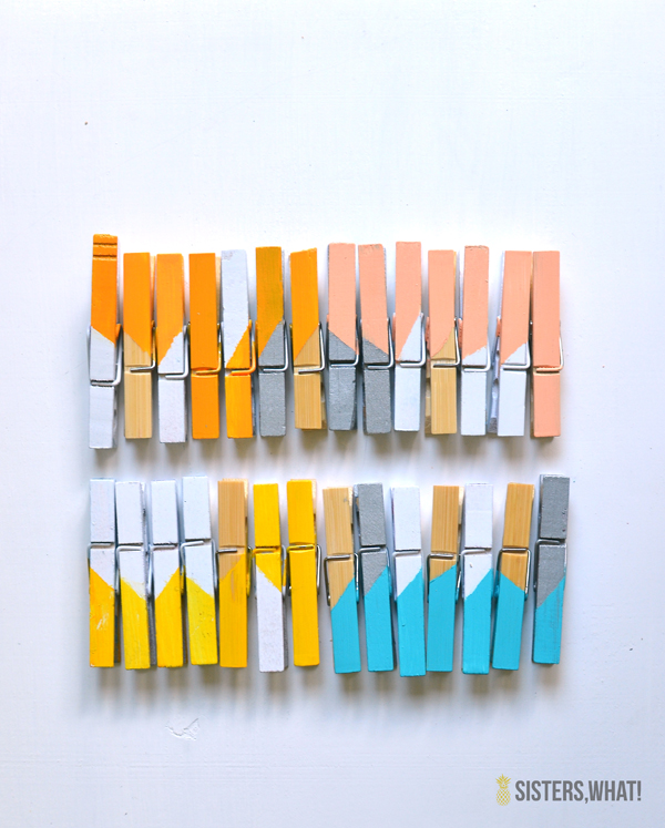 Color Block Clothes Pins