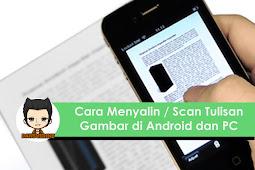 Cara Menyalin Teks pada Gambar dengan Android dan PC