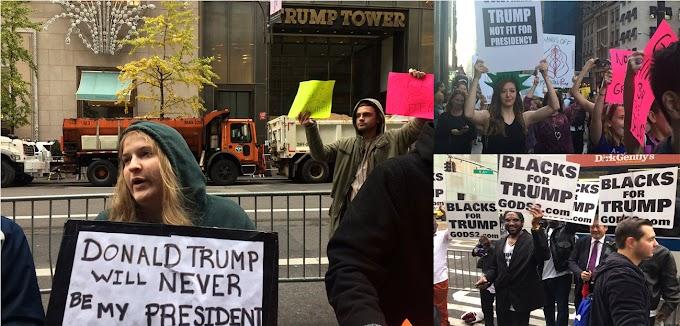 """""""Trump nunca será mi presidente""""; sigue rechazo después de las elecciones y convocan protestas"""