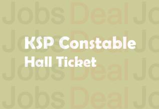 KSP Constable Hall Ticket 2017