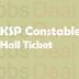 KSP Constable Hall Ticket 2017 | KSRP Constable Call Letter (Men)